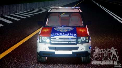 Range Rover Macedonian Police [ELS] pour GTA 4 Salon