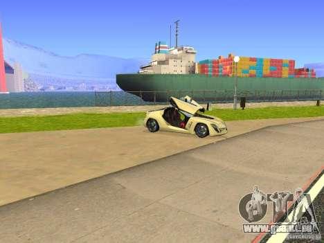 Bertone Mantide für GTA San Andreas obere Ansicht