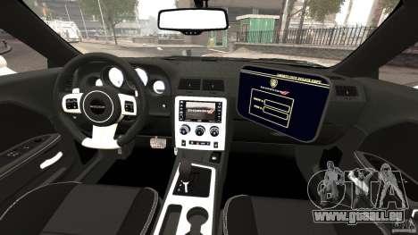 Dodge Challenger SRT8 392 2012 Police [ELS][EPM] pour GTA 4 Vue arrière