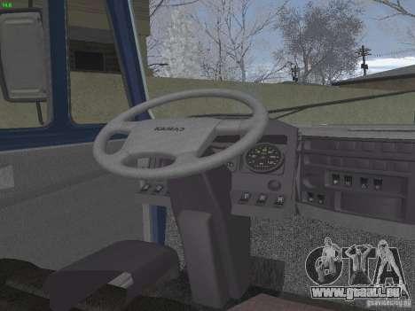 KAMAZ-5460-Sport für GTA San Andreas Innenansicht