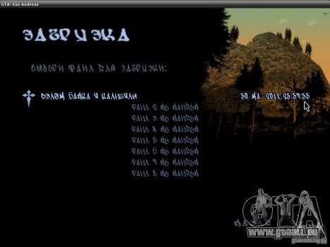 Die Schriftart der NFS-MW-v2 für GTA San Andreas dritten Screenshot