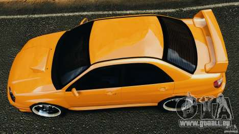 Subaru Impreza WRX STI 2005 pour GTA 4 est un droit