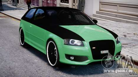 Audi S3 pour GTA 4 vue de dessus