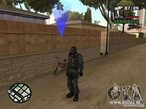 Mercenaire de STALKER en masque pour GTA San Andreas