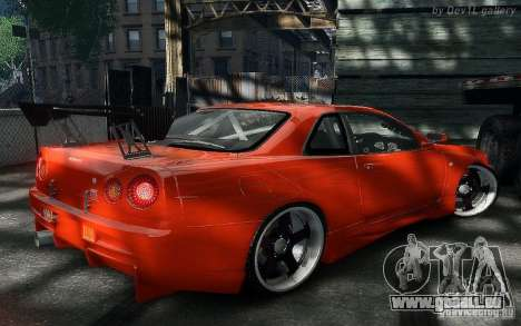 Nissan SkyLine BNR34 für GTA 4 rechte Ansicht