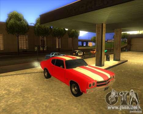 Chevy Chevelle SS stock 1970 für GTA San Andreas Rückansicht