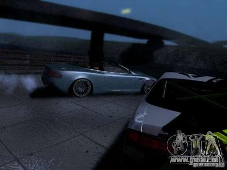 Aston Martin DB9 Volante 2006 pour GTA San Andreas vue arrière