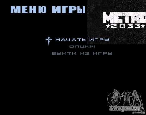 Laden Bildschirme Metro 2033 für GTA San Andreas dritten Screenshot