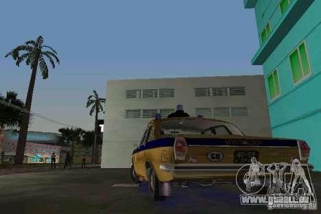 GAZ-24 Miliz für GTA Vice City zurück linke Ansicht