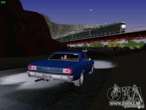 Chevrolet Chevelle pour GTA San Andreas vue de dessus
