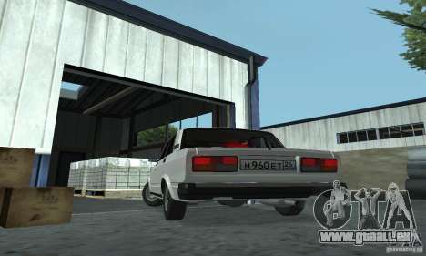 Vaz 2107 Stock v.2 für GTA San Andreas zurück linke Ansicht