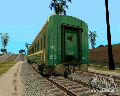 La voiture des chemins de fer russes 2 pour GTA San Andreas laissé vue