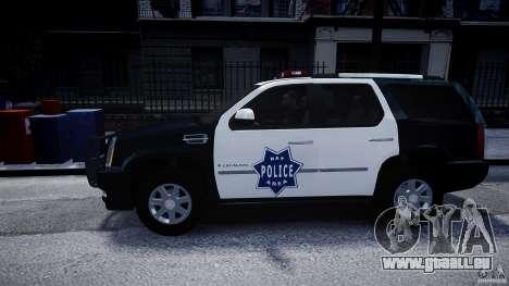 Cadillac Escalade Police V2.0 Final pour GTA 4 est une gauche