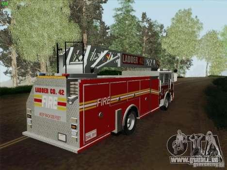 Seagrave Ladder 42 pour GTA San Andreas laissé vue