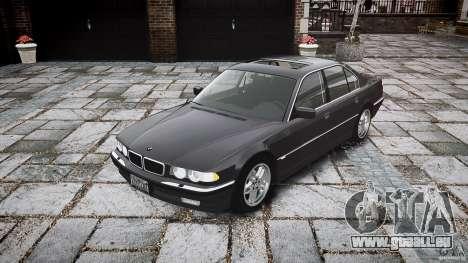 BMW 740i (E38) style 37 pour GTA 4 Vue arrière
