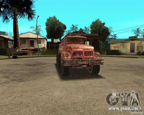 ZIL 131 für GTA San Andreas Rückansicht