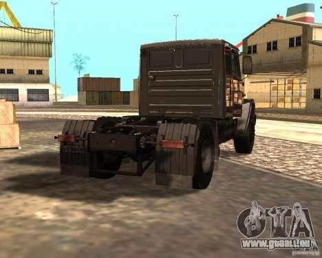 ZIL 5417 pour GTA San Andreas sur la vue arrière gauche