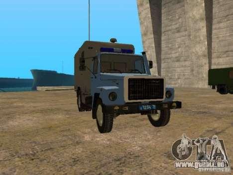 GAZ 3309 Paddy wagon für GTA San Andreas linke Ansicht
