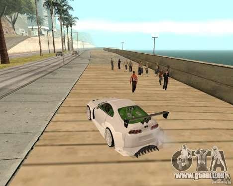 Toyota Supra TwinTurbo pour GTA San Andreas vue arrière