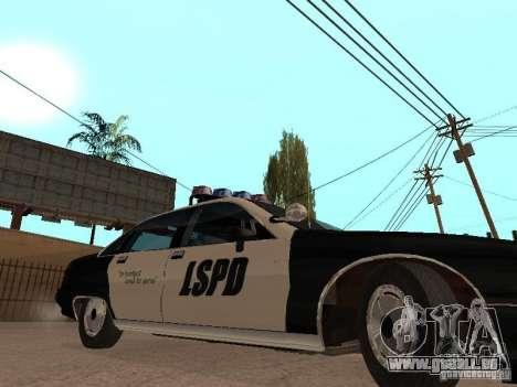Chevrolet Caprice 1991 LSPD für GTA San Andreas zurück linke Ansicht