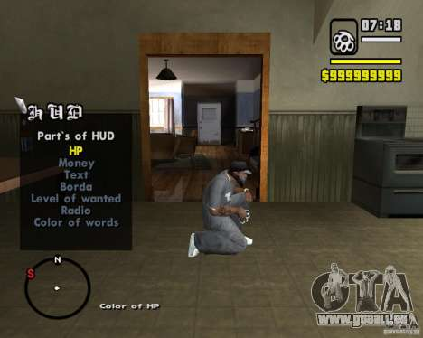 Change Hud Colors für GTA San Andreas