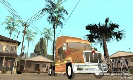 Peterbilt 387 peau 3 pour GTA San Andreas vue intérieure