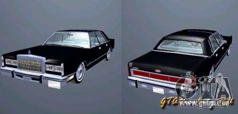 Lincoln Town Car 1986 für GTA San Andreas