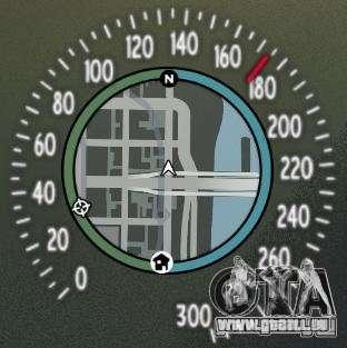 Tachometer IV (Haut 8) für GTA 4