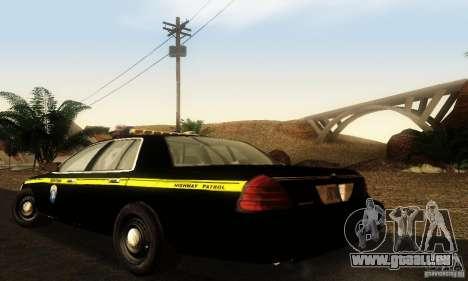 Ford Crown Victoria Montana Police für GTA San Andreas linke Ansicht