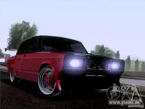 VAZ 2107 voiture Tuning pour GTA San Andreas vue arrière