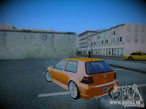 Volkswagen Golf Mk4 R32 pour GTA San Andreas laissé vue