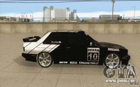 BMW E30 M3 - Coupe Explosive pour GTA San Andreas vue intérieure