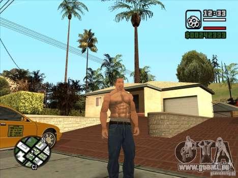 Cj blanc pour GTA San Andreas troisième écran