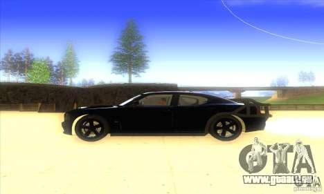 Dodge Charger From Fast Five für GTA San Andreas zurück linke Ansicht