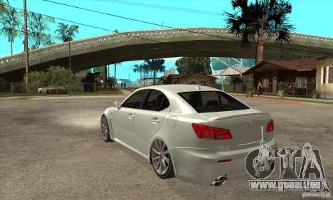 Lexus IS F 2009 pour GTA San Andreas vue de droite