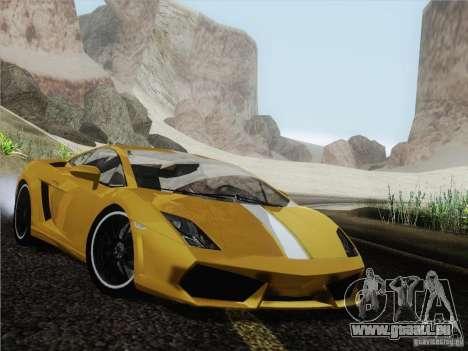 Lamborghini Gallardo LP640 Vallentino Balboni pour GTA San Andreas sur la vue arrière gauche