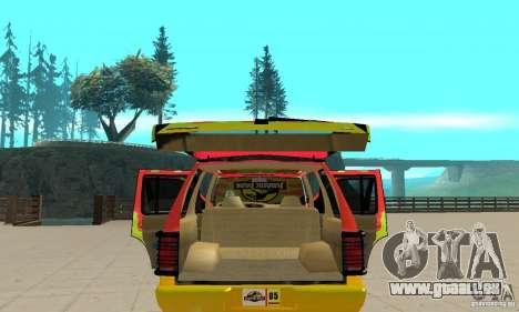Ford Explorer (Jurassic Park) für GTA San Andreas Seitenansicht