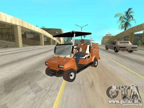Golfcart caddy für GTA San Andreas Rückansicht