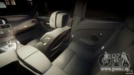 BMW M6 2010 v1.0 pour GTA 4 est une vue de l'intérieur