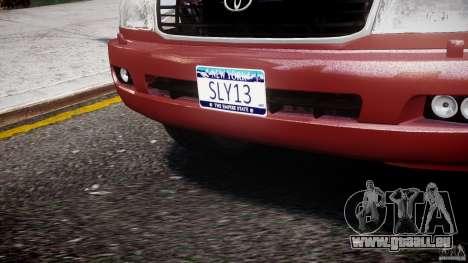 Toyota Land Cruiser 100 Stock pour GTA 4 est une vue de dessous