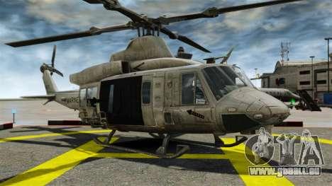 Hélicoptère Bell UH-1Y Venom pour GTA 4 Vue arrière
