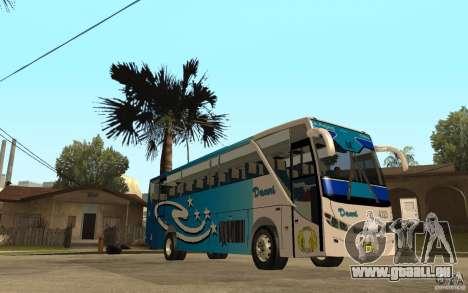 Hino New Travego V.Damri für GTA San Andreas Rückansicht