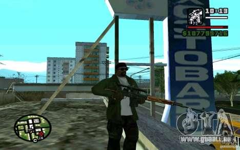 Dragunov sniper rifle v 1.0 pour GTA San Andreas deuxième écran