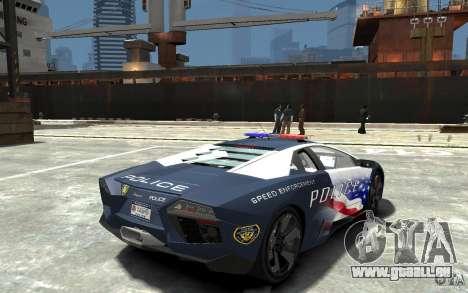 Lamborghini Reventon Police Stinger Version pour GTA 4 est un droit