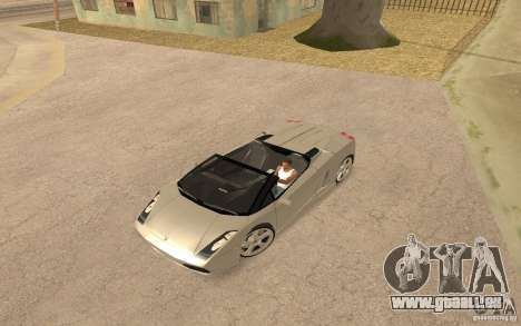 Lamborghini Galardo Spider für GTA San Andreas zurück linke Ansicht