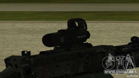 M240 pour GTA San Andreas troisième écran