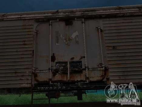 Refrežiratornyj wagon Dessau n7 pour GTA San Andreas sur la vue arrière gauche