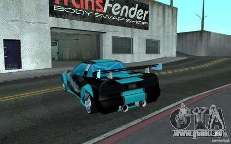Baby blue Infernus pour GTA San Andreas laissé vue
