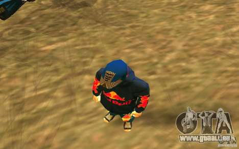 Red Bull Clothes v1.0 für GTA San Andreas dritten Screenshot