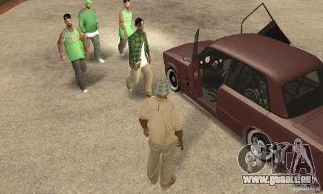 VAZ 2106 Street Style für GTA San Andreas Rückansicht